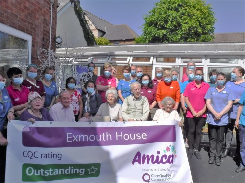 Exmouth House Celebrates Their 'Outstanding' rating from CQC Image