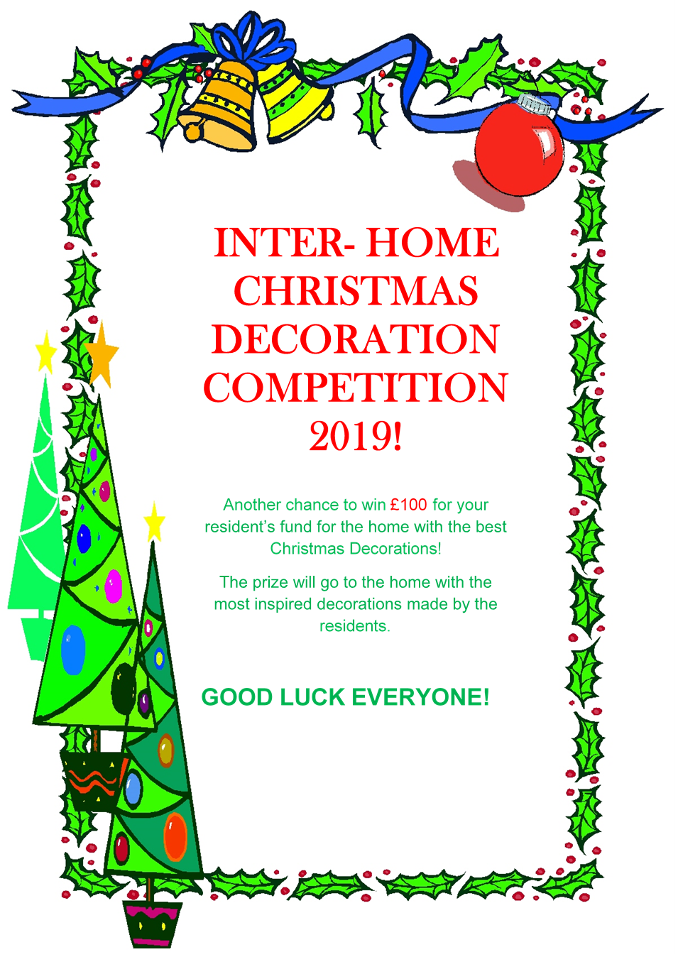 Inter-Home Christmas Decoration Competition 2019 Image