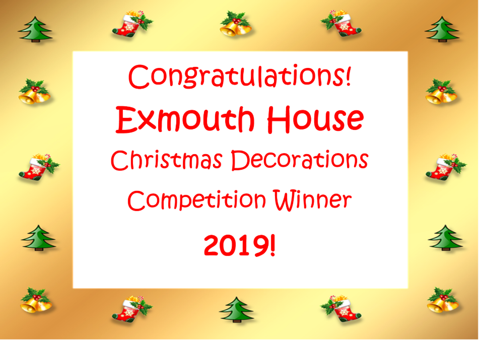 Exmouth House - Winners of the Christmas Decoration Competition 2019 Image