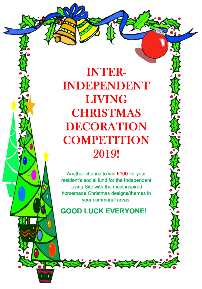 Independent Living Christmas Decoration Competition 2019 Image