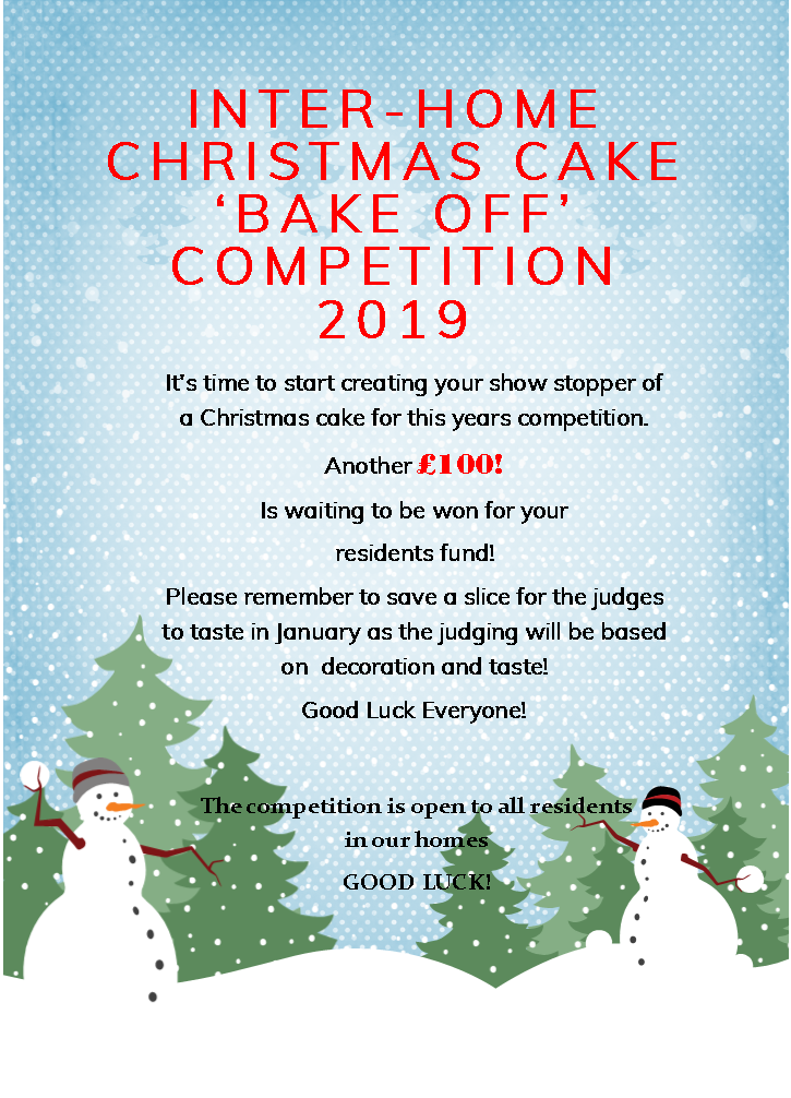 Inter -Home Christmas Cake Competition Image